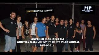 Highlights from Malta Paranormal's Ghostly Walk / Hunt Held 16.10.2014 at Buskett Gardens