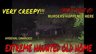 "HAUNTED BURNED HOME ""SPIRITS TAUNTED MARIE"" (VERY SCARY EXPERIENCE)!!"