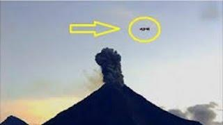 UFO Causes Massive Explosion As It Enters Volcano In Mexico 2015