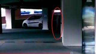 Ghost On Parking Area | Real Ghost Attacking People | Haunted Ghost Videos | Ghost Caught On Camera