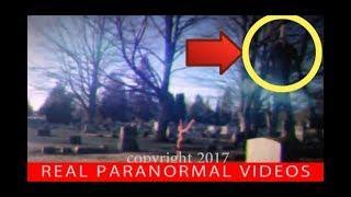 SLENDERMAN attacks man in a Graveyard Caught On Camera. Slenderman IRL