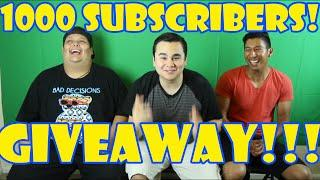 1000 Subscribers Giveaway!! (CLOSED)