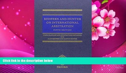 FREE [PDF] DOWNLOAD Redfern   Hunter on International Arbitration Nigel Blackaby For Kindle