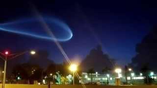 EXTRAÑA LUZ EN EL CIELO DE FLORIDA - MIAMI - ATLAS V