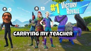 Carrying My Teacher In Fortnite.