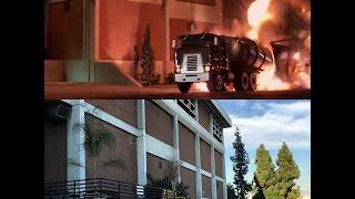 The Terminator Filming Location Truck Blowing Up