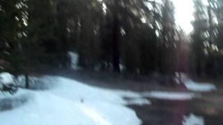 Spooner Lake Snow Sliding