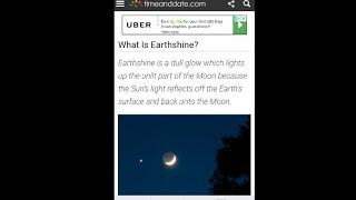 wtf earthshine just  more proof the bible is right and says flat earth as God made it and nasa lies