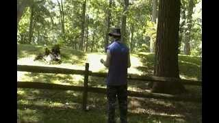 Video at the largest mound - Mounds State Park