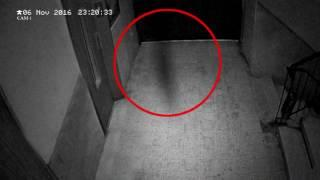 Ghostly Figure Passing Caught On CCTV | Scary Videos 2017