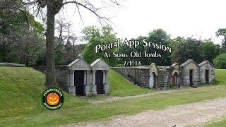 Portal Ghost Box App Session At Some Old Tombs on 7/1/16