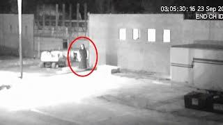 REAL GHOST FOOTAGE! Paranormal Activity Caught On CCTV Camera