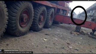 Shocking ghost caught recorded near truck!!! Scary Videos