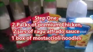 Step By Step Chicken Alfrado
