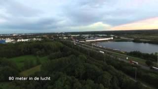 De nieuwe Drone uittesten prachtig beeld Full HD. en 4 K