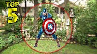 5 REAL ALIVE CAPTAIN AMERICA CAUGHT ON CAMERA & SPOTTED IN REAL LIFE!