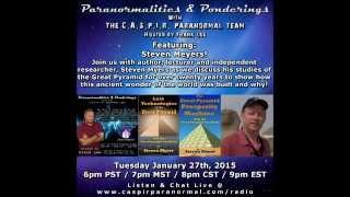 Paranormalities & Ponderings Radio Show featuring guest Steven Myers!