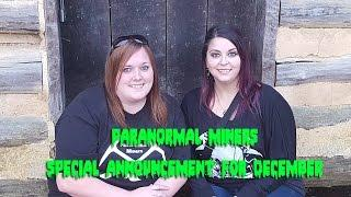 Paranormal Miner December Announcement