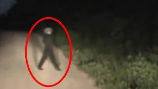 Alien Caught on Tape Crossing Road