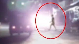 OMG!! Real Ghost Crossing A Busy Road Caught On CCTV Camera!!