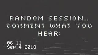 A Random Ghost Box ITC Session (What Do You Hear?)