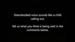 AUDIO -  Sounds like a child, tell us what you hear in comments below
