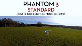 DJI PHANTOM 3 STANDARD First Flight: Beginner Mode 30M Limit + Z1 Gimbal, GoPro 4 Silver Footage