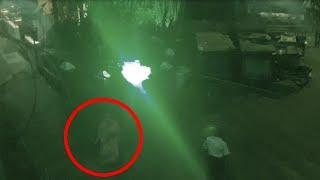 Ghost Shadow Passing Road Caught On CCTV camera!!