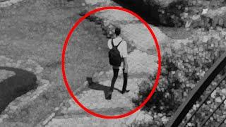 Ghost Shaped Creature Walking Along A Garden Caught On CCTV!!