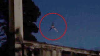 Amazing 'UFO' Footage Circling In Sky Caught On Tape!!