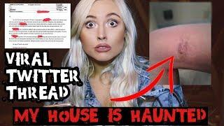 VIRAL HAUNTED HOUSE GHOST STORY.. Scariest Twitter Thread
