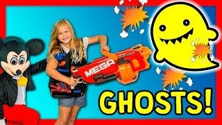 ASSISTANT Ghostbusters Mickey Mouse and Donald Duck Ghost Hunters Nerf Toys Funny Video