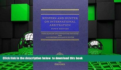 PDF [DOWNLOAD] Redfern   Hunter on International Arbitration BOOK ONLINE