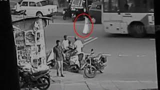 Spooky Ghost Shape Captured From A Busy Street In Hong Kong!! Most Scary Ghost Video!!