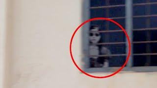 Ghost Captured While Looking Through The Window!! Eerie House!!