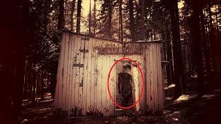 Ghost House!! Huge Black Ghost Shadow Caught On Camera!!