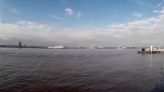 time lapse of the river mersey