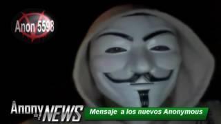 Mensaje de Anonymous a los nuevos Anonymous