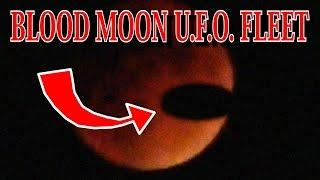 HUGE U.F.O. Caught On Camera During Blood Moon SEPT 27 2015. UFO seen in real life SCARY
