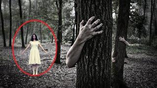 Ghost Sighting: White Lady Emerges From Tree!! Mysterious GHOST Video 2017