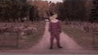 Scary Clown Filmed Stalking People Outside Of Graveyard In Wasco TX | NEW 2016