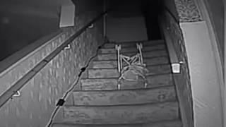 Ghost hunters capture spooky footage of 'chair being pushed down stairs'