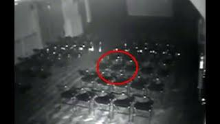 Ghost caught on CCTV camera From Haunted Theater !! Scary Videos