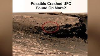 Possible Crashed UFO Found On Mars?