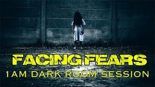 FACING FEARS. 1AM DARK ROOM SPIRIT BOX SESSION.