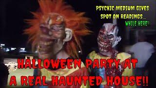 HALLOWEEN PARTY AT A REAL HAUNTED HOUSE!