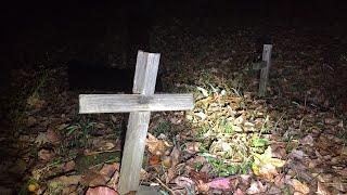 Extremely Haunted Fisher Hill Cemetery All Alone *Over 100 Unmarked Graves*