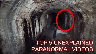 TOP 5 STRANGEST PARANORMAL VIDEOS I'VE CAUGHT ON CAMERA