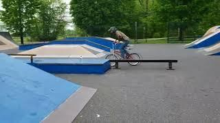 1st time double peg grind on bmx bike in 15 years
