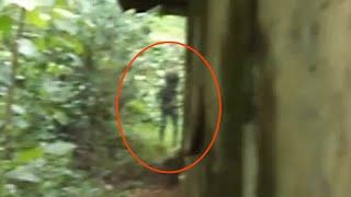 Huge Black Ghost Shadow Caught On Camera | Shocking Ghost Sighting From an Abandoned Place